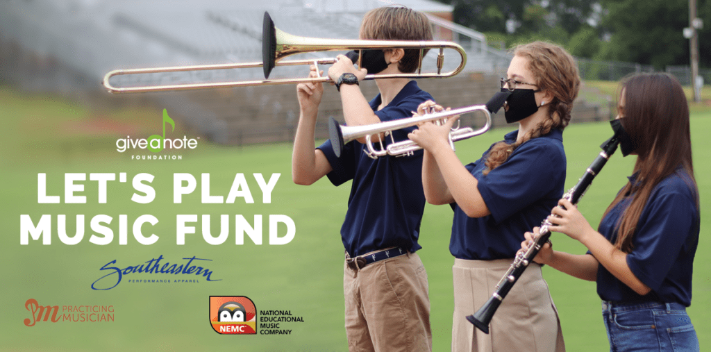 Give A Note Helps Music Education During COVID